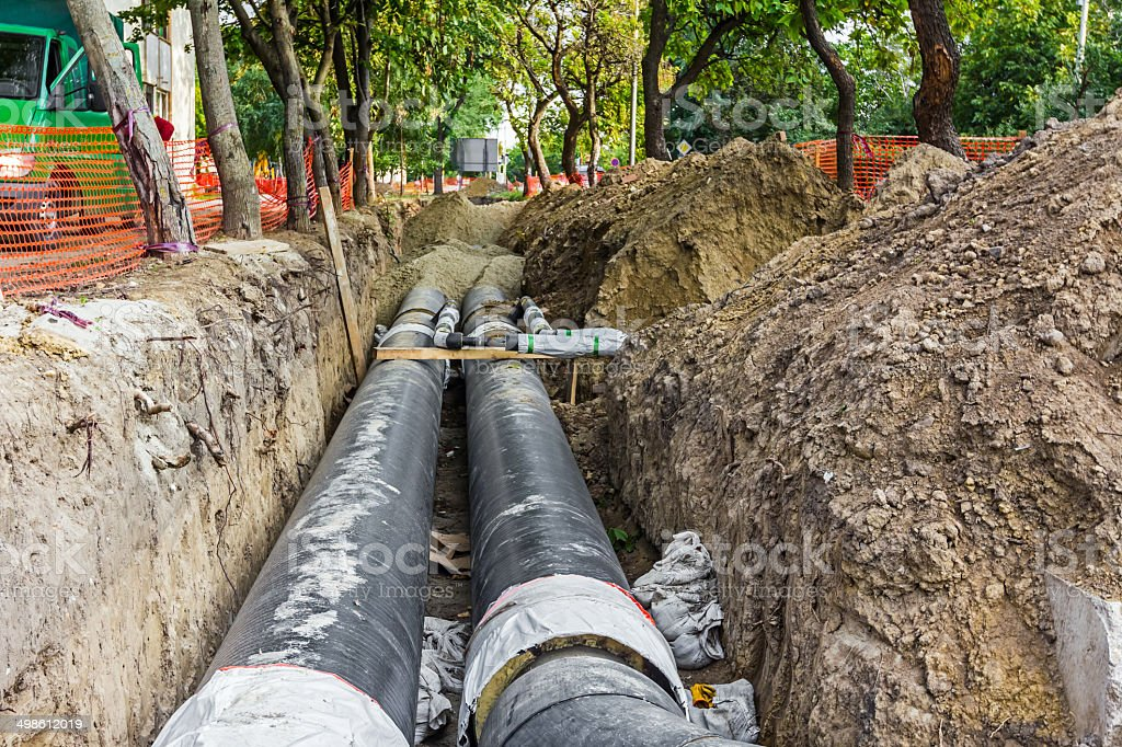 New pipeline stock photo