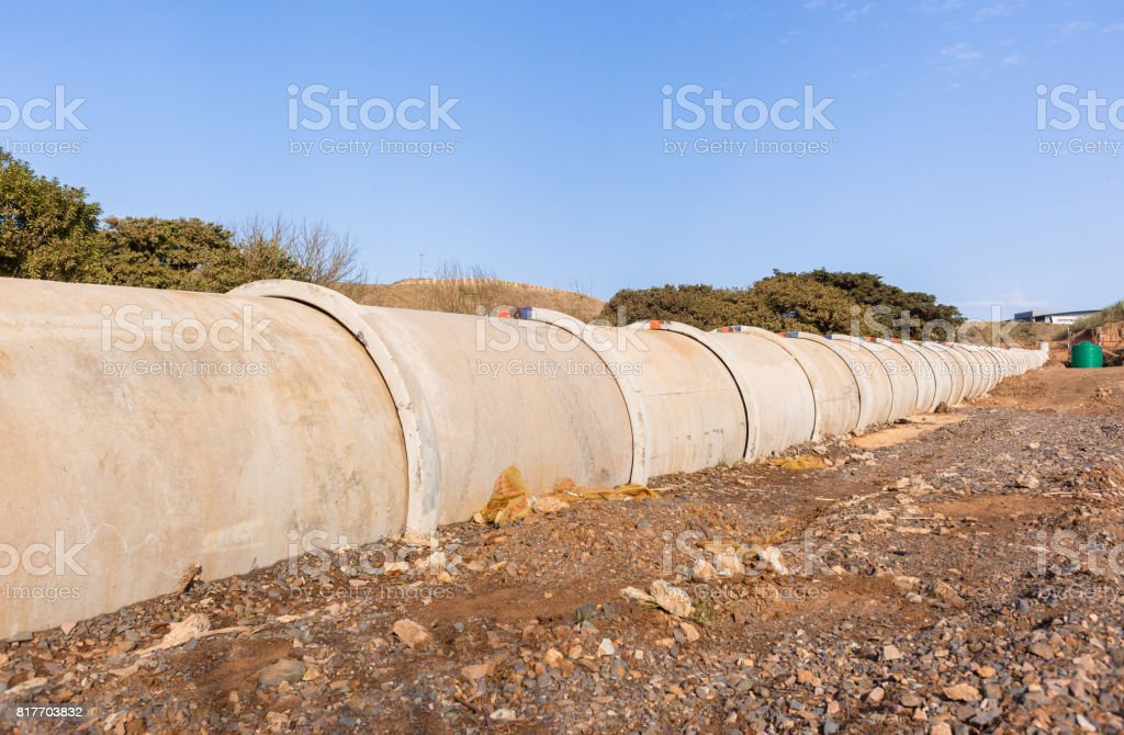 New Pipeline Waste Water stock photo