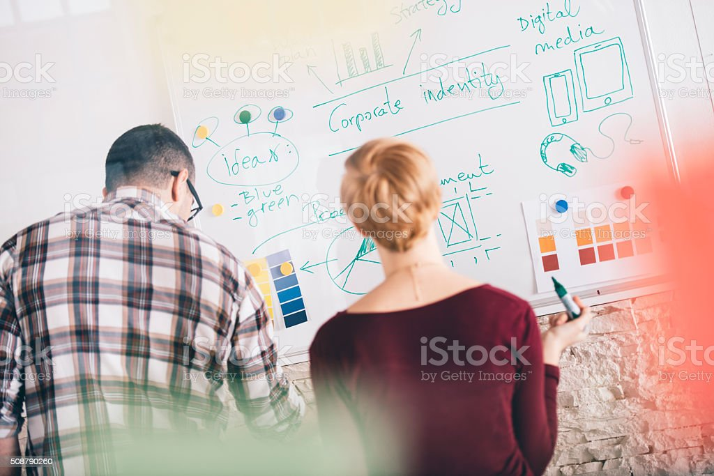 New plans for new business year stock photo