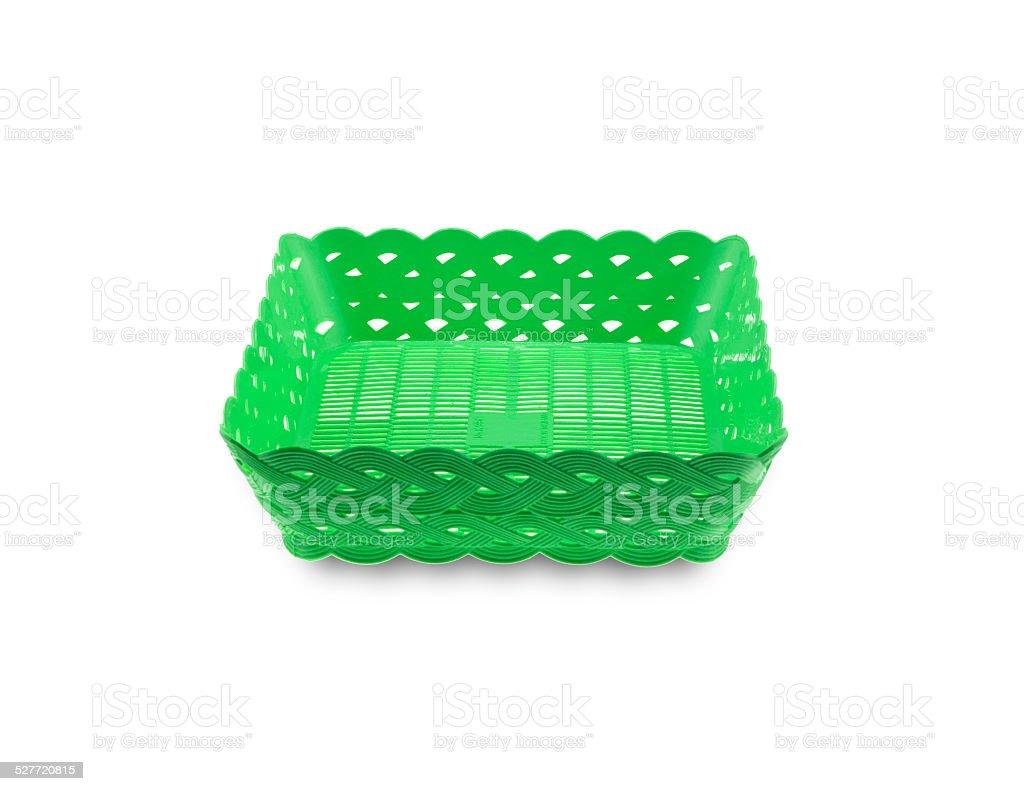 new plastic baskets stock photo