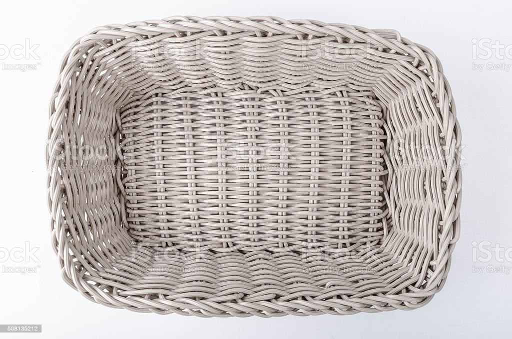 New plastic woven basket stock photo