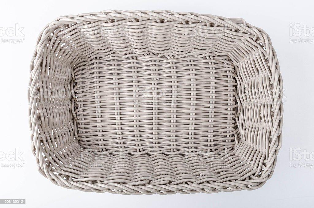 New plastic woven basket stock photo