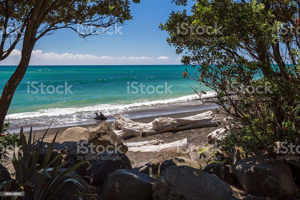 New Plymouth Beachside stock photo