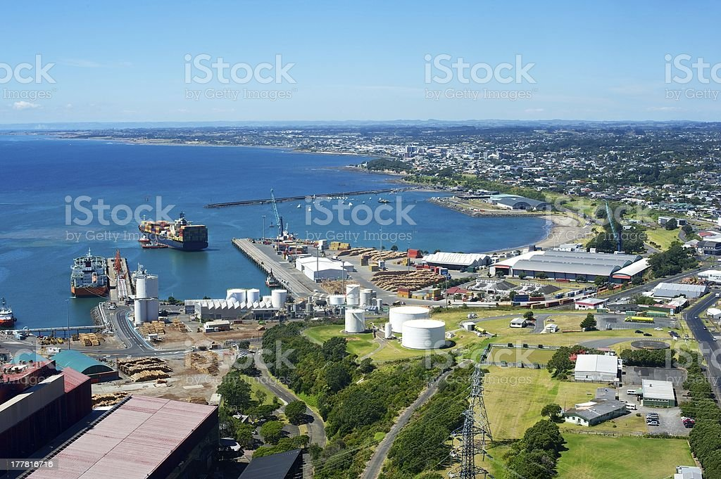 New Plymouth port stock photo
