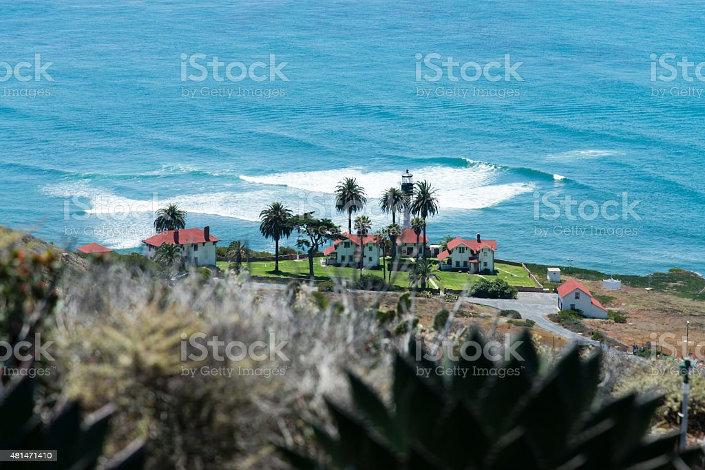 New Point Loma Lighthouse stock photo