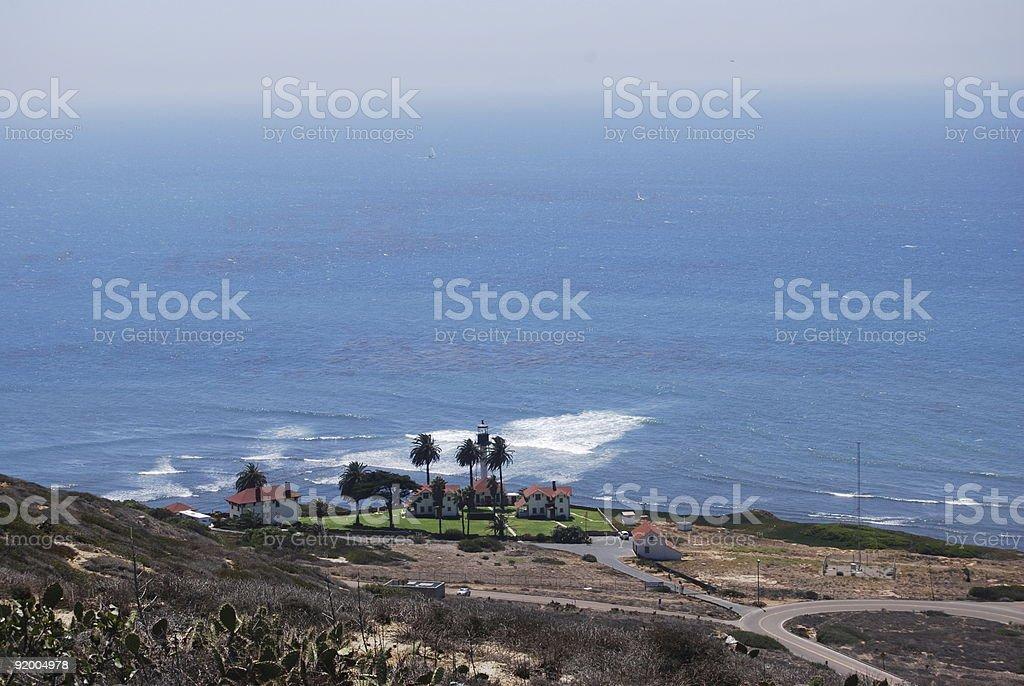 New Point Loma Lighthouse stock photo