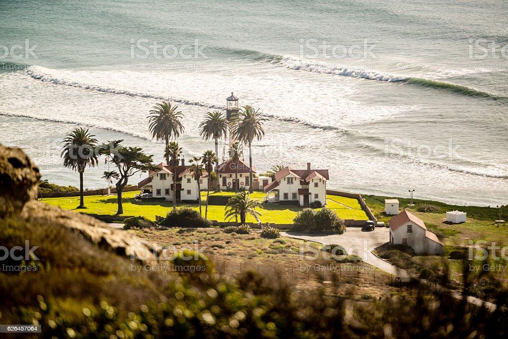 New Point Loma Lighthouse, San Diego, USA stock photo