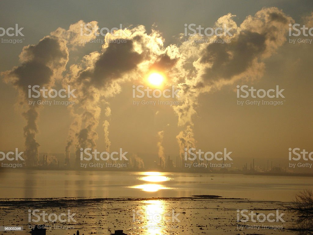 New Pollution royalty-free stock photo