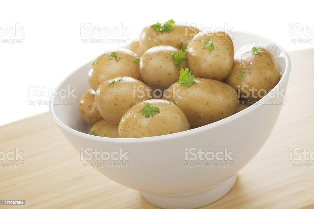 New Potato Bowl Boiled Food royalty-free stock photo