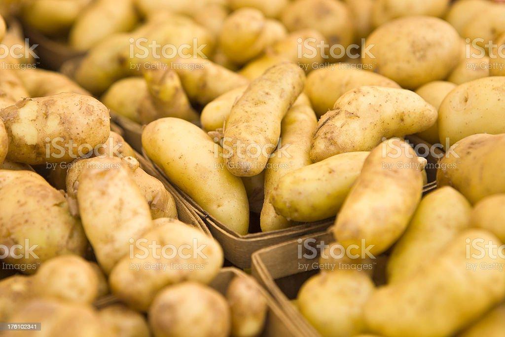 New Potatoes on Display at a Farmer's Market royalty-free stock photo