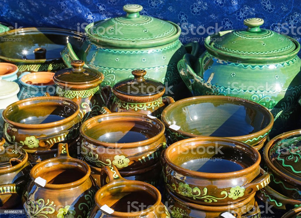 New pottery outdoor stock photo