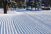 New prepared ski track
