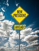 New president street sign