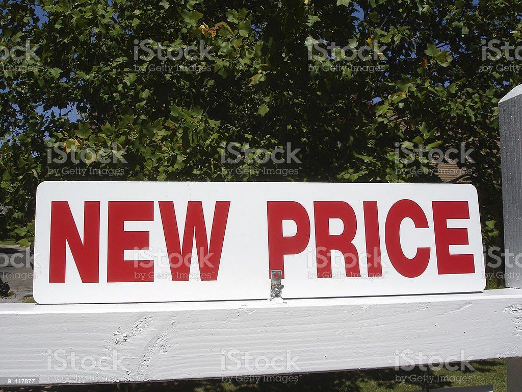 New Price royalty-free stock photo