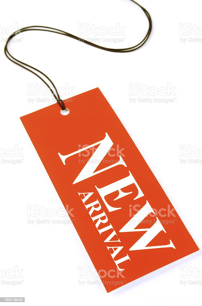 New price tag royalty-free stock photo