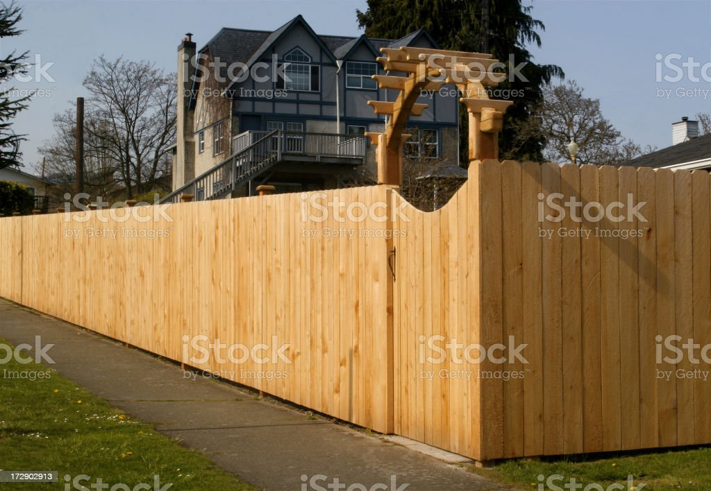 New Privacy Fence royalty-free stock photo