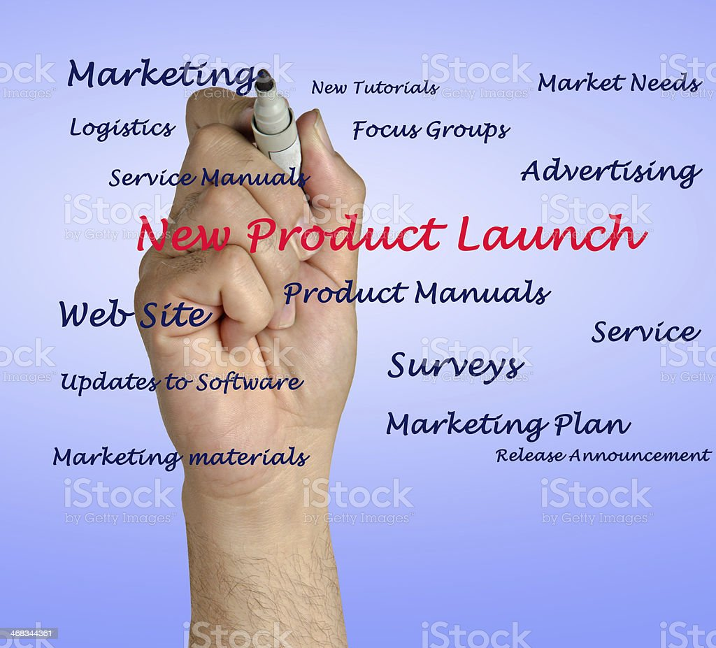 New product launch royalty-free stock photo