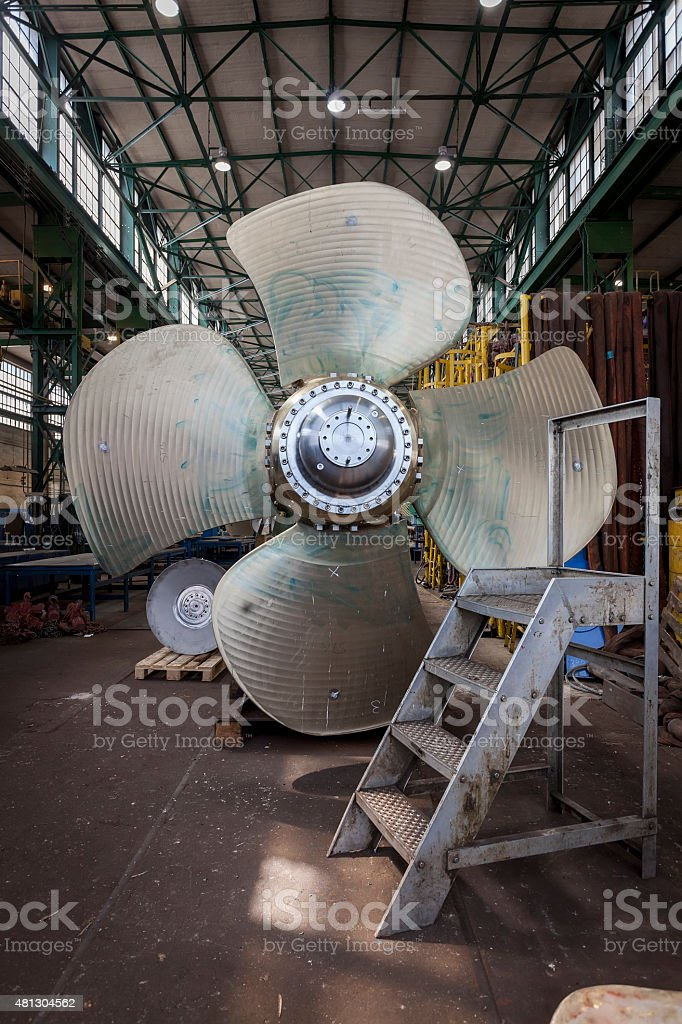 New propeller in the hall stock photo