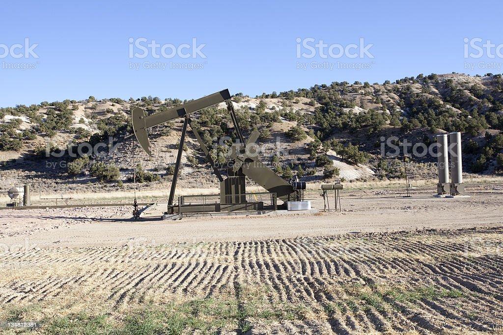 New Pump Jack in Eastern Utah royalty-free stock photo