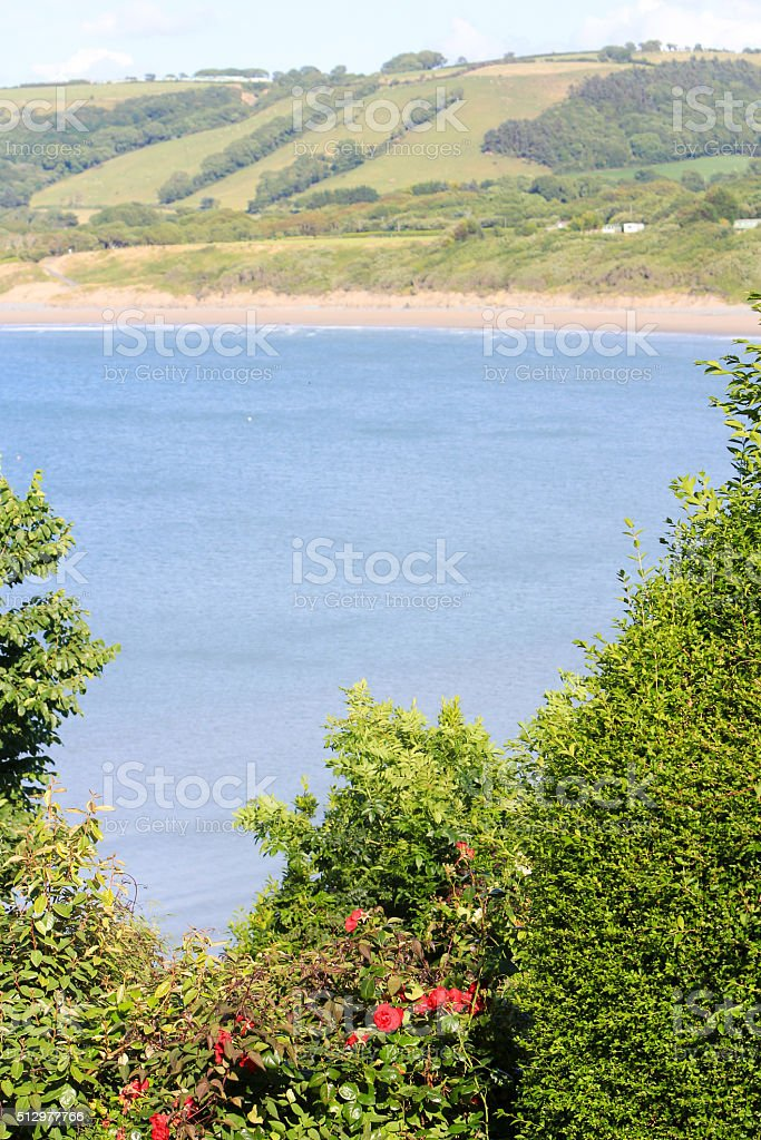 New Quay in Ceredigion, Wales stock photo