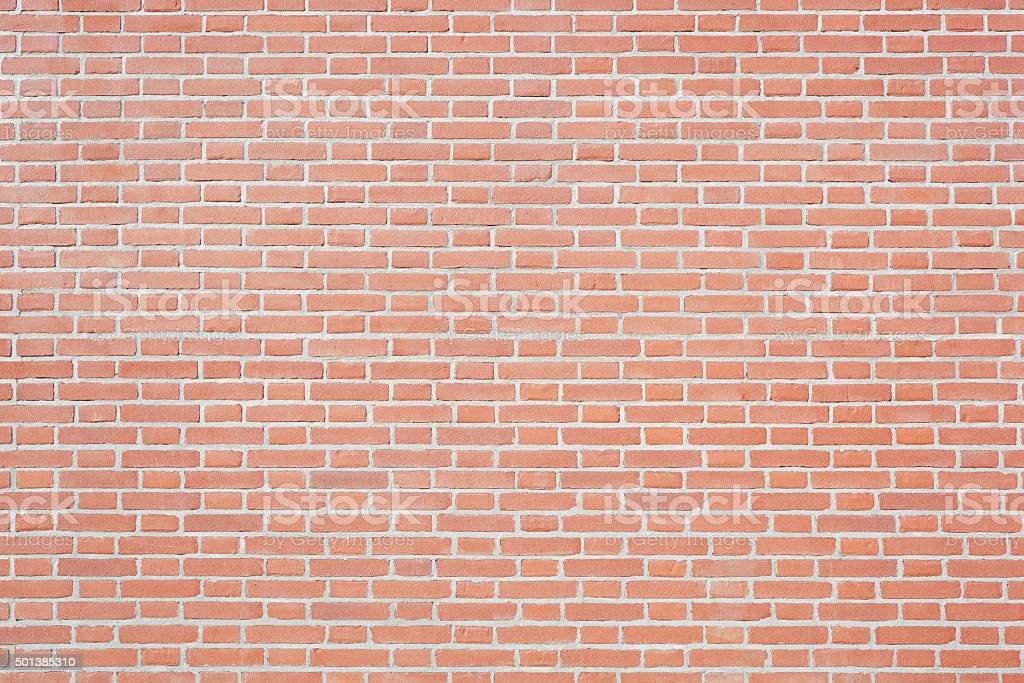 New red bricks wall texture background stock photo
