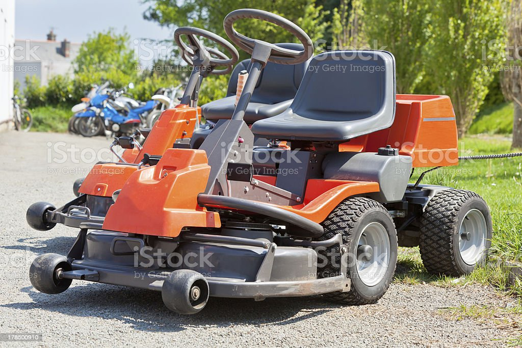 New Red Lawnmowers royalty-free stock photo