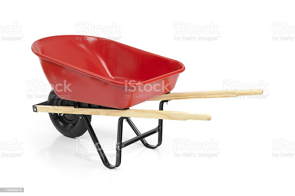 New Red Wheelbarrow stock photo