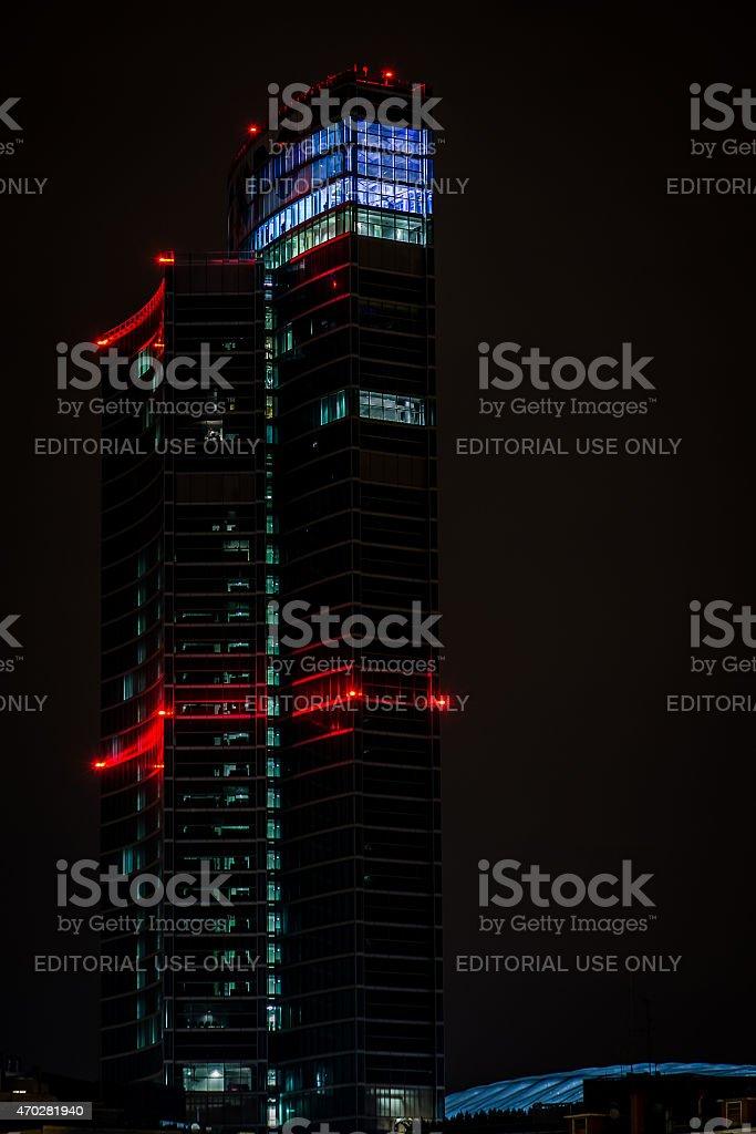 new Regione Lombardia skyscraper, Milan Italy stock photo