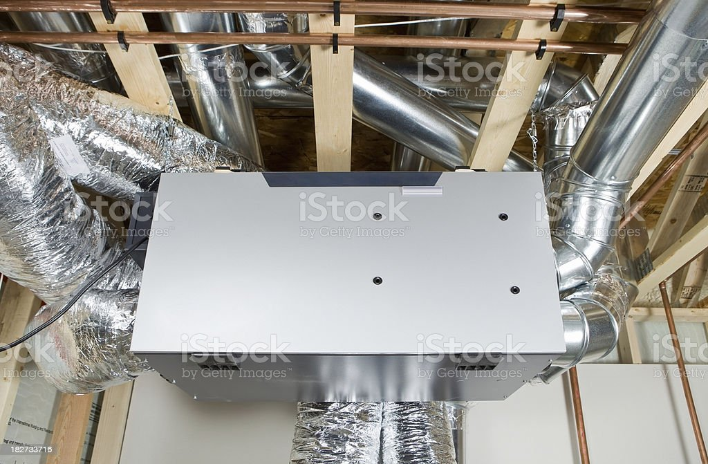 New Residential Air Exchanger stock photo