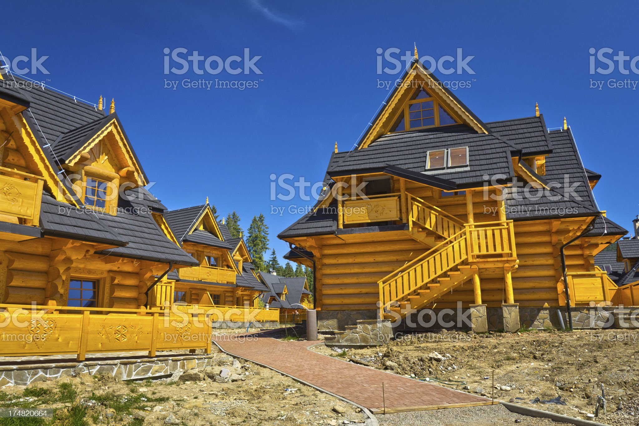 New residential area under construction royalty-free stock photo