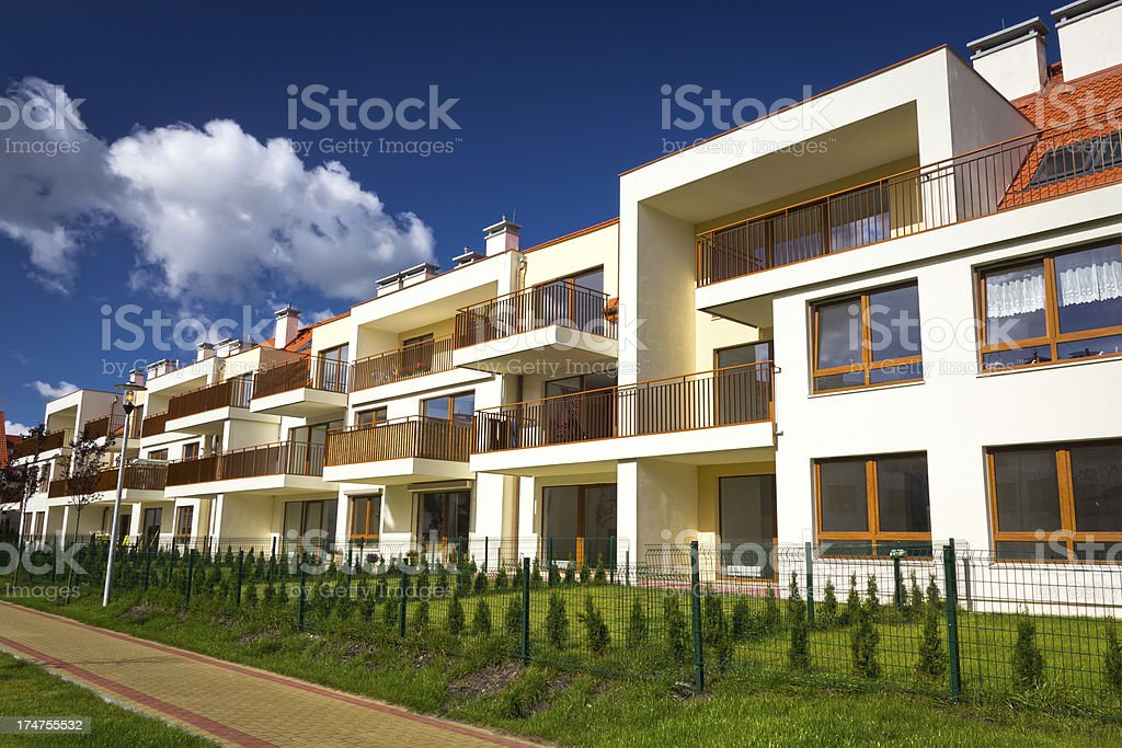 New residential complex royalty-free stock photo
