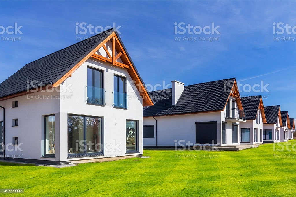 New residential complex under construction stock photo