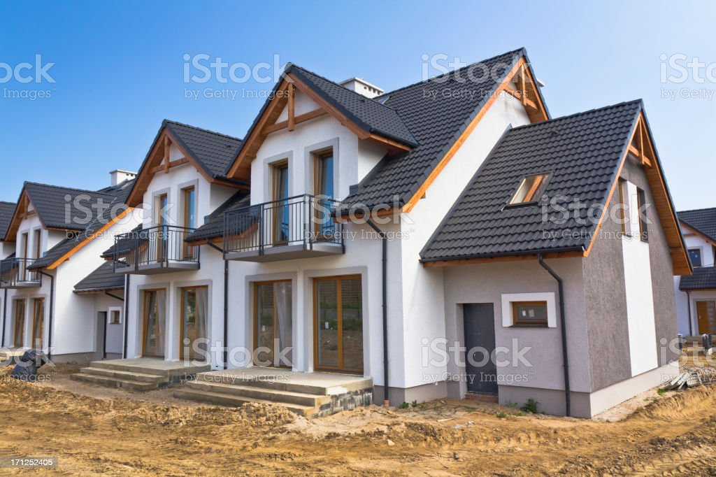 New Residential Home under construction royalty-free stock photo