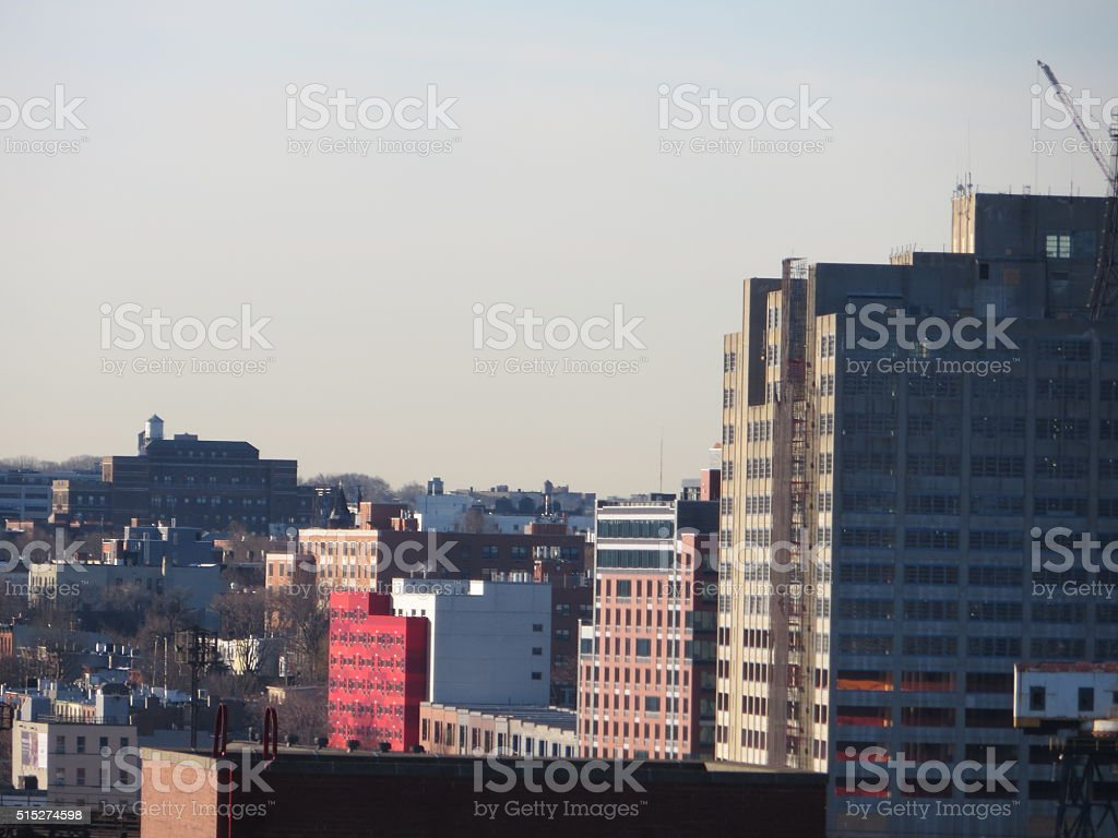 New Residential Housings in Clinton-Hill Brooklyn stock photo