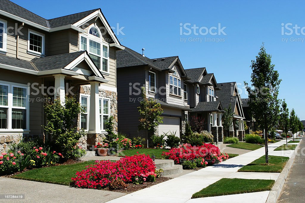 New Residential Neighborhood stock photo