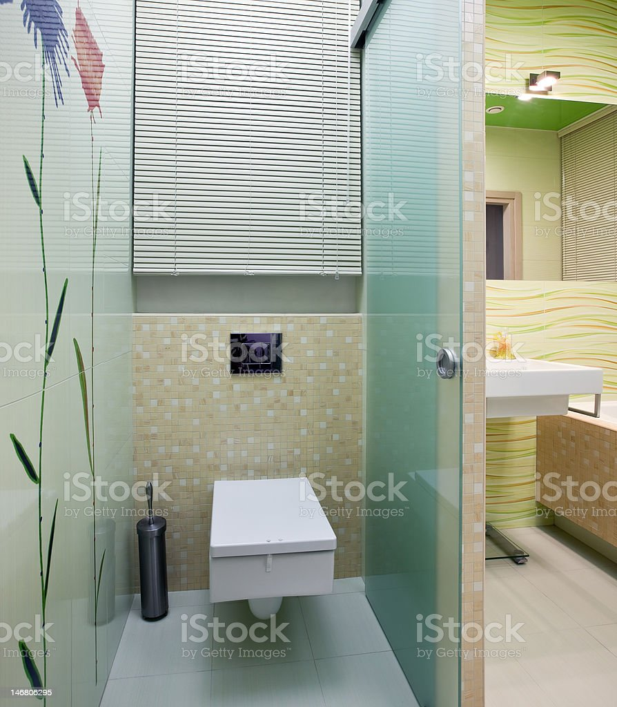 New restroom interior royalty-free stock photo