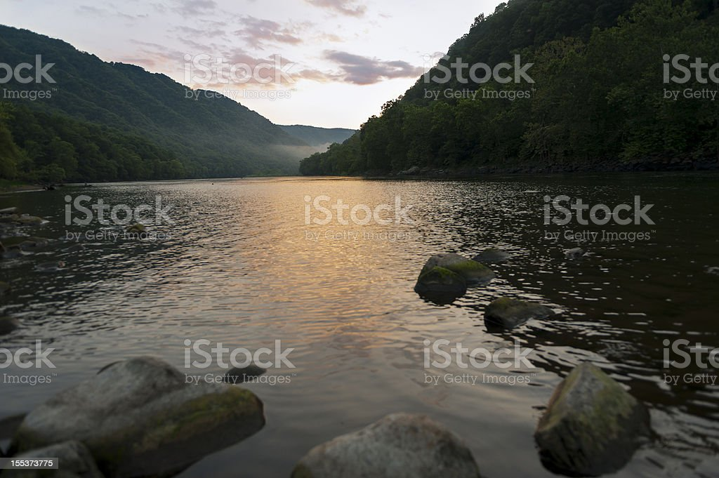 New River at Sunset stock photo
