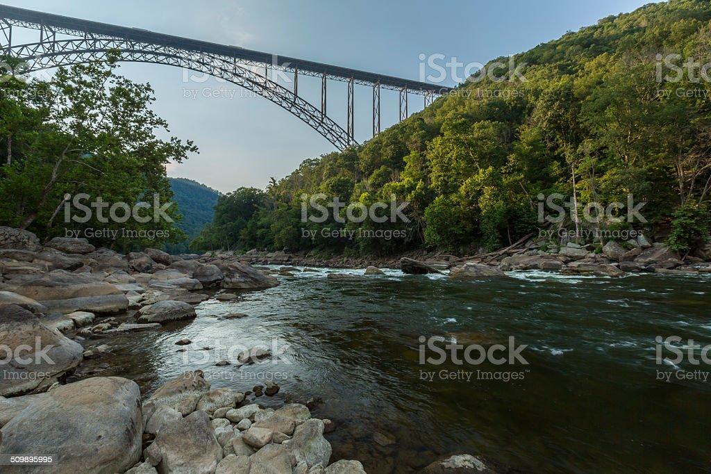 New River Bridge Scenic stock photo