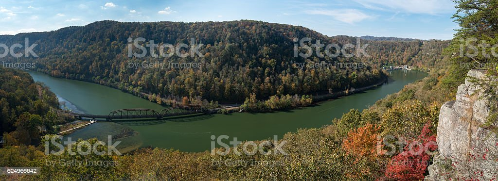 New River from Hawks Nest Overlook stock photo