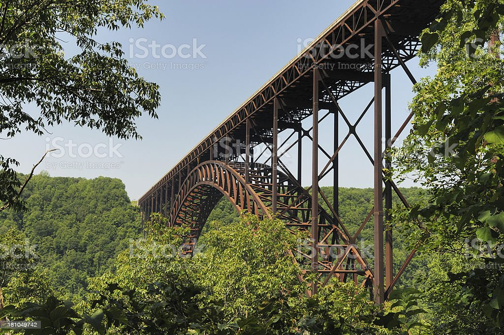New River Gorge Bridge in West Virginia stock photo
