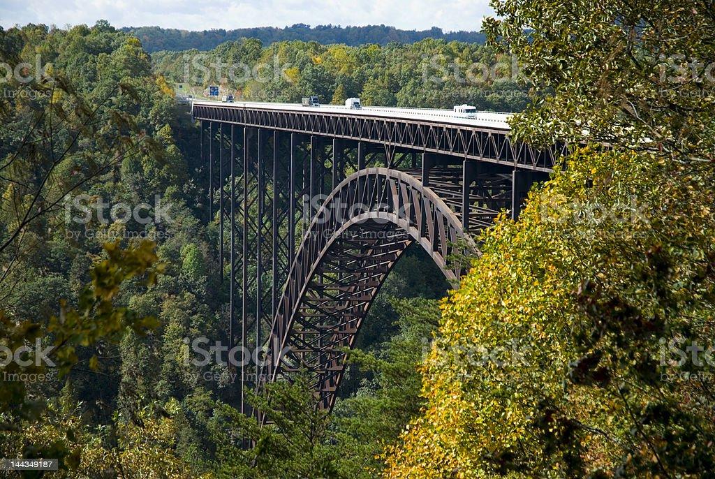 New River Gorge Bridge View stock photo