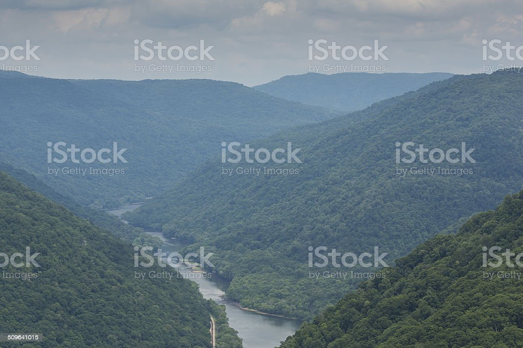 New River Grandview stock photo