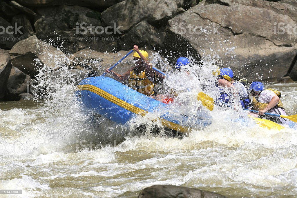 New River Whitewater stock photo