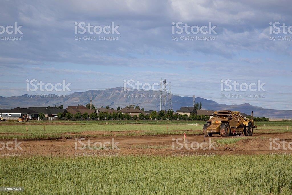 New Road Construction royalty-free stock photo