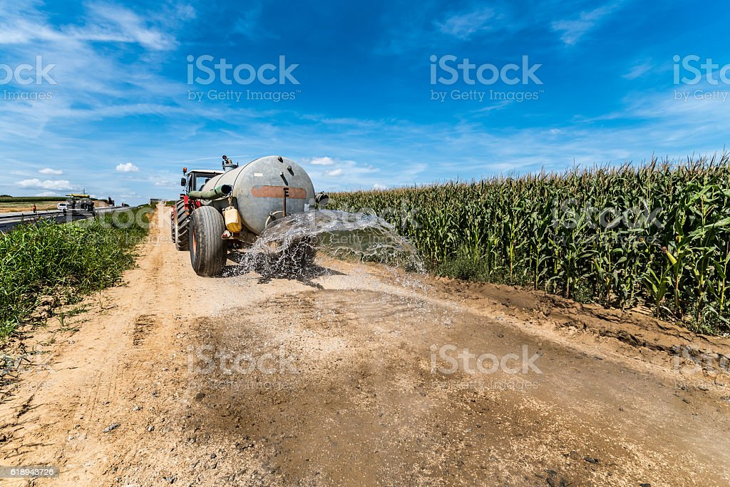 New road construction site stock photo