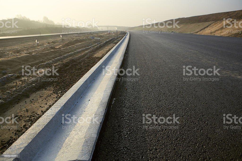 New Road Drainage stock photo