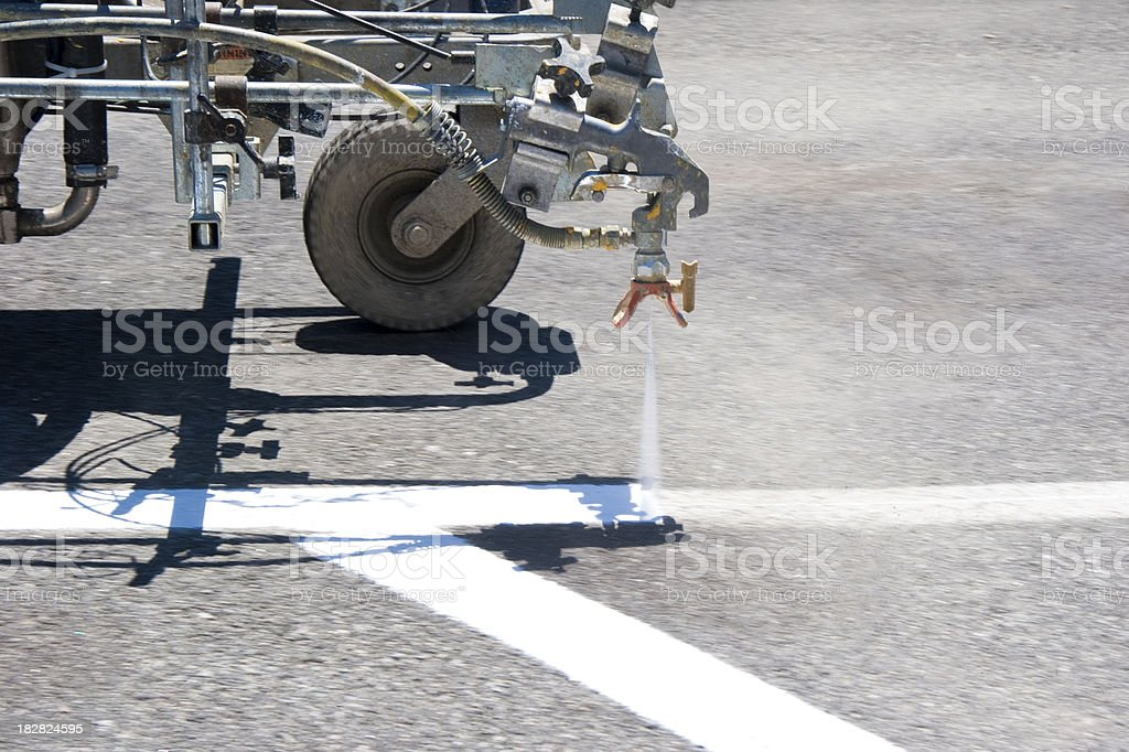 new road marking stock photo