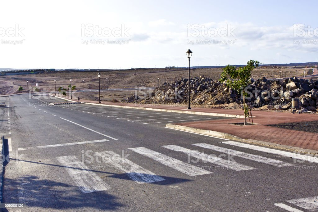 new roads for a development area stock photo