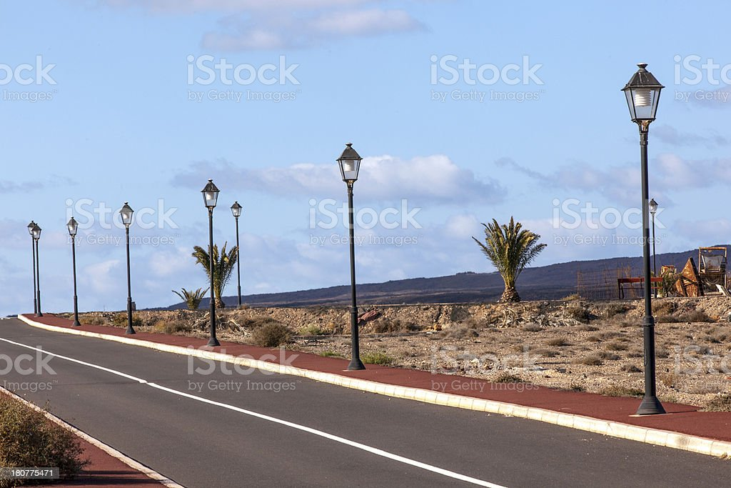 new roads for the development area in Lanzarote royalty-free stock photo