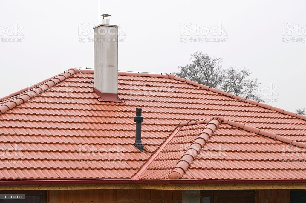 New roof stock photo